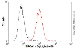Flow Cytometry - Anti-BRCA1 antibody [MS110] - BSA and Azide free (ab264518)