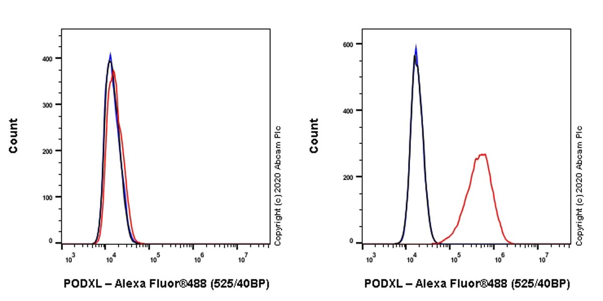 Flow Cytometry - Anti-PODXL antibody [PcMab-47] (ab264542)