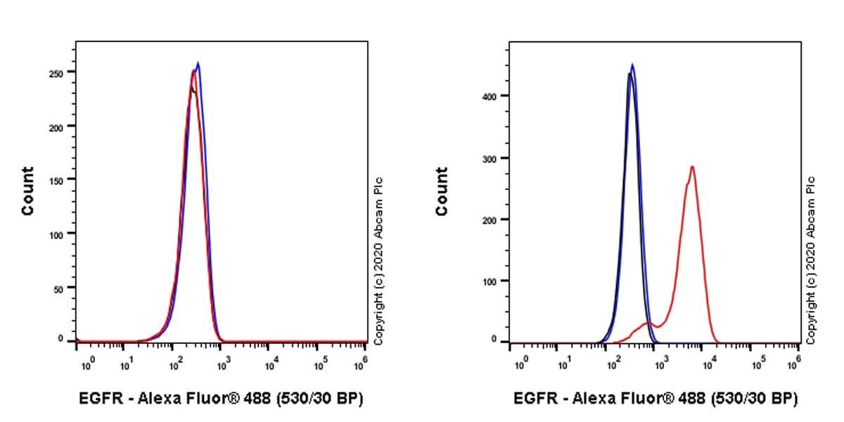 Flow Cytometry - Anti-EGFR antibody [EMab-134] - BSA and Azide free (ab264547)