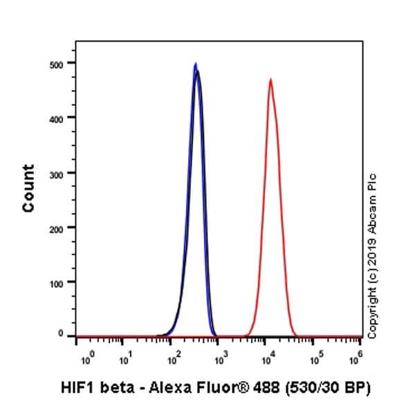 Flow Cytometry - Anti-HIF1 beta antibody [EPR23106-55] - BSA and Azide free (ab267343)