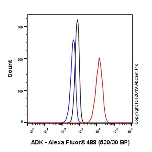 Flow Cytometry - Anti-ADK antibody [EPR23166-143] - BSA and Azide free (ab267400)