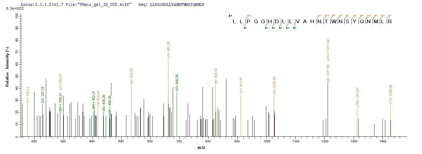 Mass Spectrometry - Recombinant Mouse PLBD2 protein (Tagged) (ab267870)
