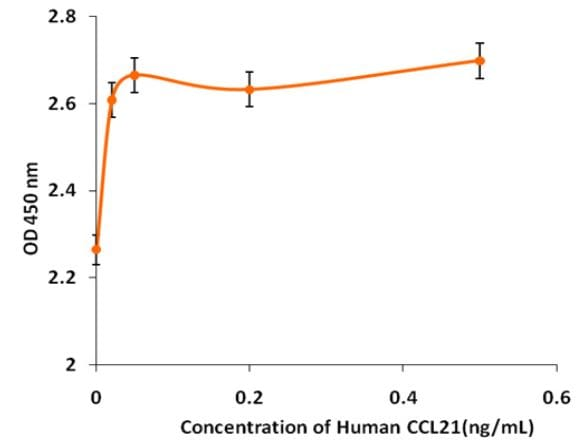 Functional Studies - Recombinant human CCL21 protein (Active) (ab268385)
