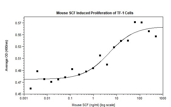 Functional Studies - Recombinant mouse SCF protein (Active) (ab269179)
