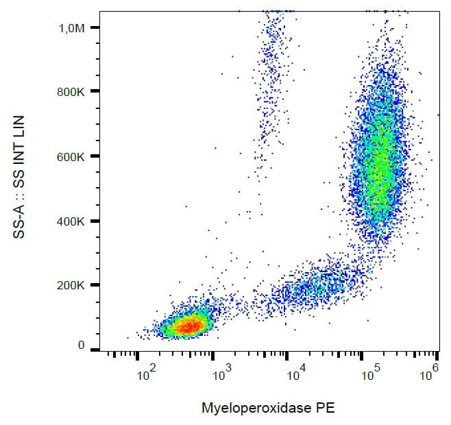 Flow Cytometry - Anti-Myeloperoxidase antibody [MPO421-8B2] (Phycoerythrin) (ab269283)