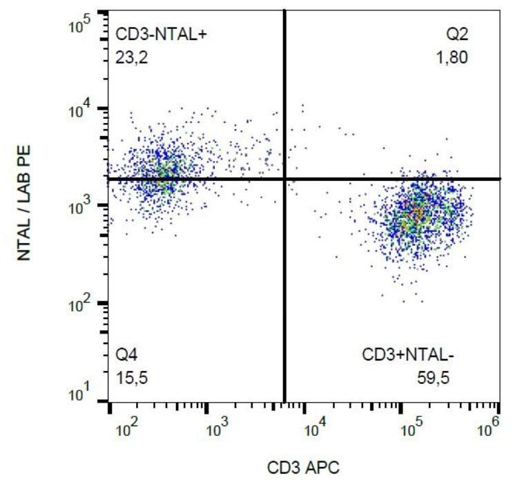 Flow Cytometry - Anti-NTAL antibody [NAP-07] (Phycoerythrin) (ab27574)