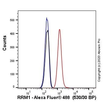 Flow Cytometry - Anti-RRM1 antibody [SP167] (Alexa Fluor® 488) (ab270137)