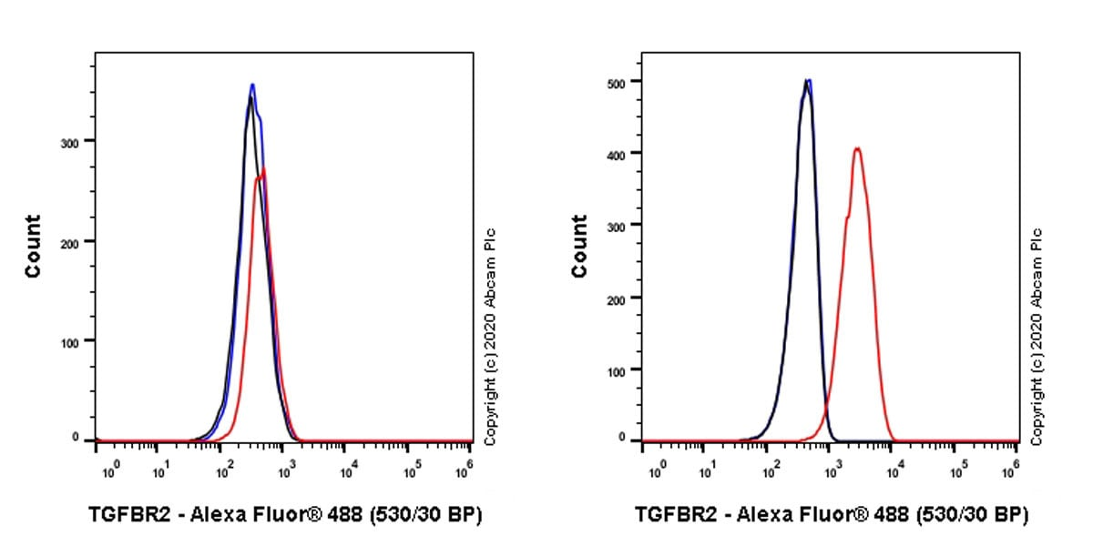 Flow Cytometry - Anti-TGF beta Receptor II antibody [EPR23237-2] (ab270440)
