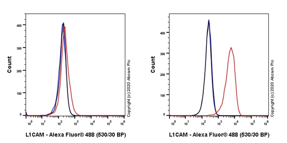 Flow Cytometry - Anti-L1CAM antibody [EPR23241-224] (ab270455)