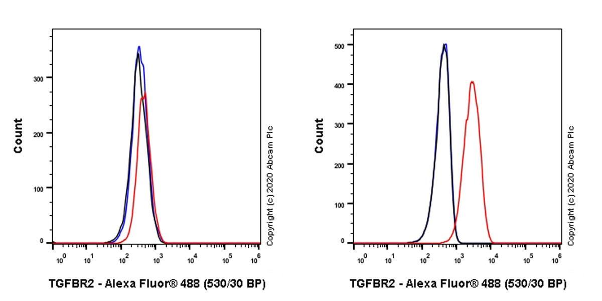 Flow Cytometry - Anti-TGF beta Receptor II antibody [EPR23237-2] - BSA and Azide free (ab270609)