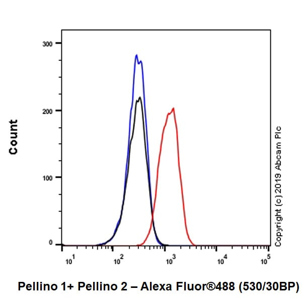 Flow Cytometry - Anti-Pellino 1 + Pellino 2 antibody [EPR23275-22] - BSA and Azide free (ab270611)
