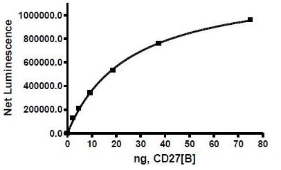 Functional Studies - Recombinant human CD70 protein (Active) (ab271444)