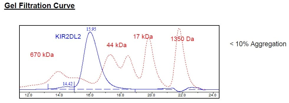 Size Exclusion Chromatography - Recombinant Human KIR2DL2 protein (Tagged) (ab271575)