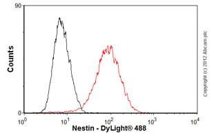 Flow Cytometry (Intracellular) - Anti-Nestin antibody [SP103] - BSA and Azide free (ab271870)