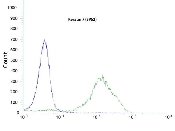 Flow Cytometry - Anti-Cytokeratin 7 antibody [SP52] - BSA and Azide free (ab271885)