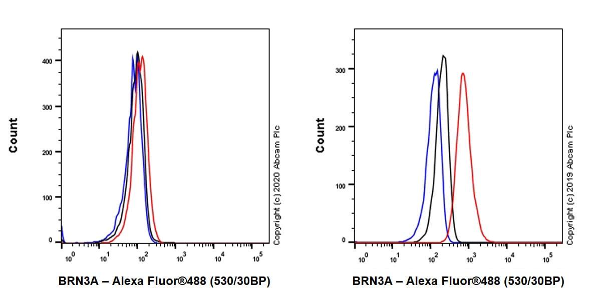Flow Cytometry (Intracellular) - Anti-BRN3A antibody [EPR23257-285] - BSA and Azide free (ab273099)