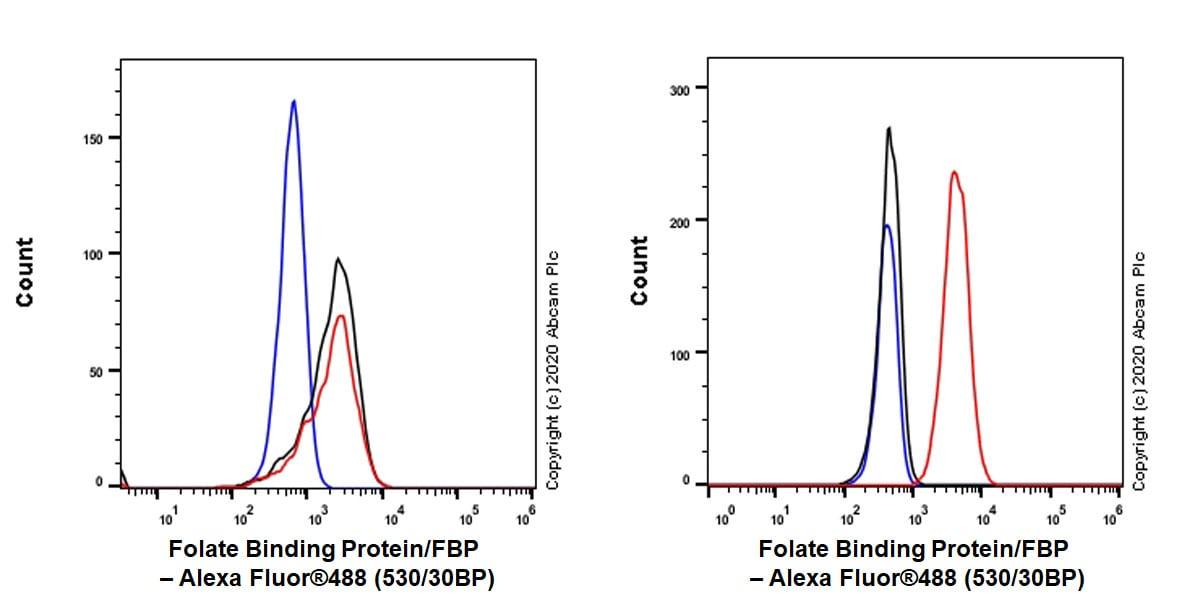 Flow Cytometry - Anti-Folate Binding Protein/FBP antibody [EPR23387-276] - BSA and Azide free (ab273159)