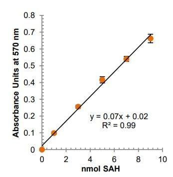 Methyltransferase standard curve