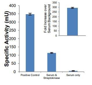 Specificity activity of Streptokinase