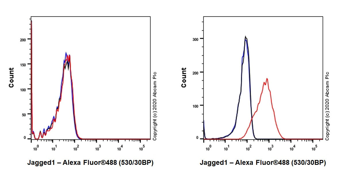 Flow Cytometry - Anti-Jagged1 antibody [EPR23647-75] - BSA and Azide free (ab273578)