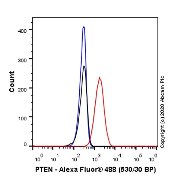 Flow Cytometry - Anti-PTEN antibody [EPR23729-4] - BSA and Azide free (ab273629)