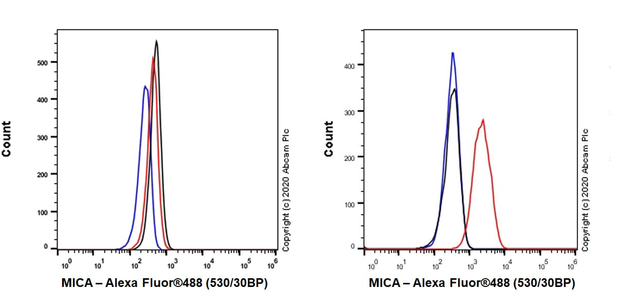 Flow Cytometry - Anti-MICA antibody [EPR24086-121] - BSA and Azide free (ab276141)