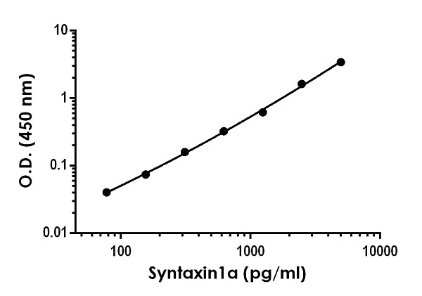 Example of [Status] Syntaxin 1a standard curve in 1X Cell Extraction Buffer PTR.