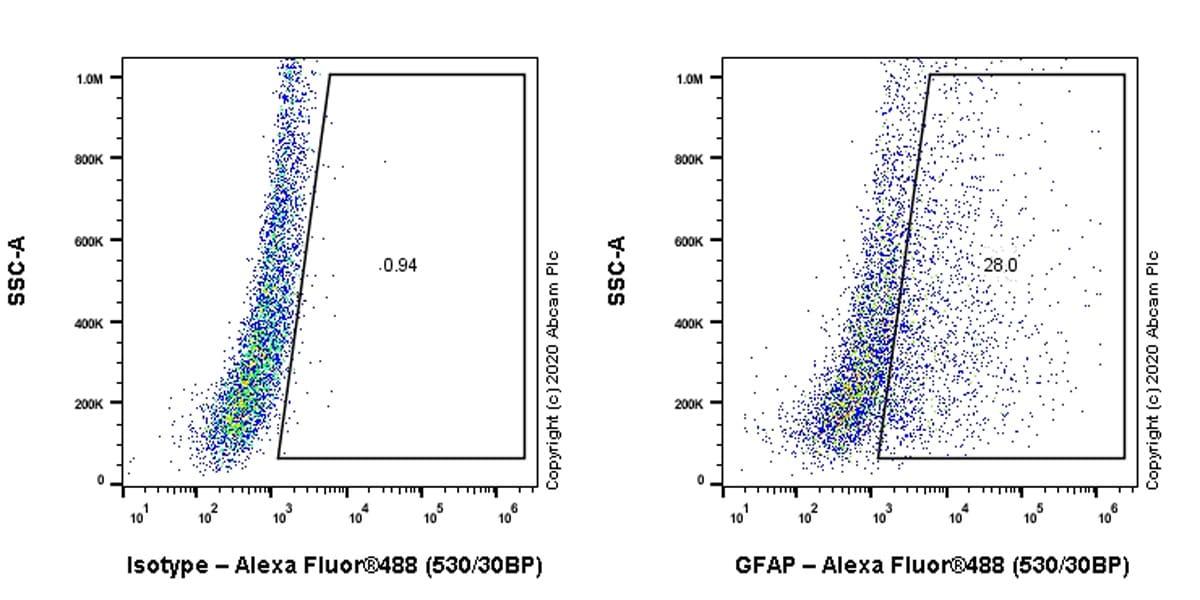 Flow Cytometry (Intracellular) - Anti-GFAP antibody [RP1003] (ab278054)