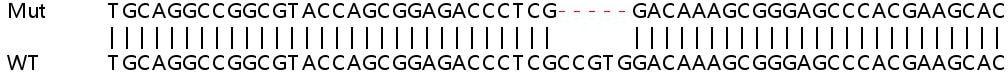 Sanger Sequencing - Human TSPO (PBR) knockout HeLa cell pellet (ab278937)