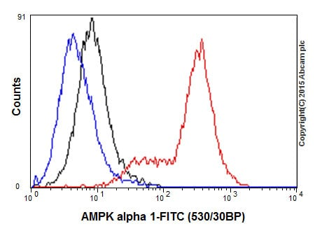 Flow Cytometry - Anti-AMPK alpha 1 antibody [Y365] (ab32047)