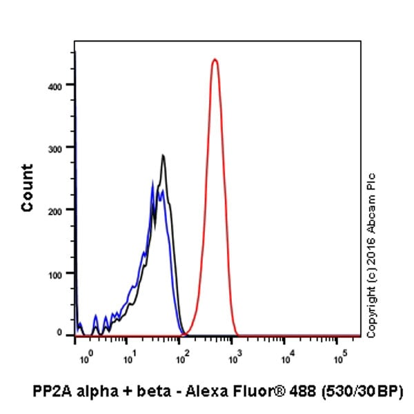 Flow Cytometry - Anti-PP2A alpha + beta antibody [Y119] (ab32141)