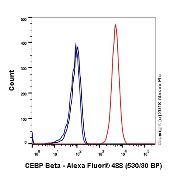 Flow Cytometry - Anti-CEBP Beta antibody [E299] - C-terminal (ab32358)