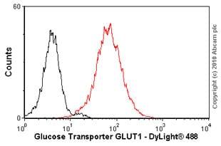 Flow Cytometry - Anti-Glucose Transporter GLUT1 antibody [SPM498] (ab40084)