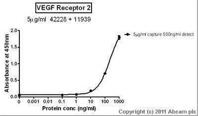 Sandwich ELISA - Anti-VEGF Receptor 2 antibody [mV1001.3m-h] (ab42228)