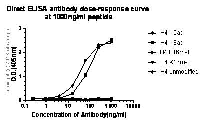 ELISA - Anti-Histone H4 (acetyl K5) antibody [EP1000Y] - ChIP Grade (ab51997)