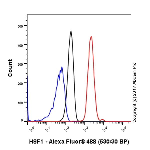 Flow Cytometry - Anti-HSF1 antibody [EP1710Y] - ChIP Grade (ab52757)