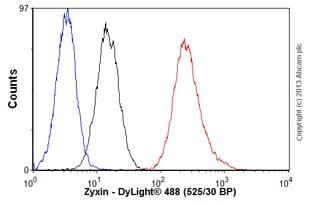 Flow Cytometry - Anti-Zyxin antibody (ab58210)