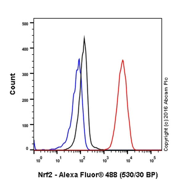 Flow Cytometry - Anti-Nrf2 antibody [EP1808Y] - ChIP Grade (ab62352)