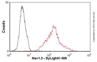 Flow Cytometry - Anti-nNav1.5 antibody [4G8:1G7] (ab62388)