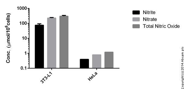 Functional Studies - Nitric Oxide Colorimetric Assay Kit (ab65328)
