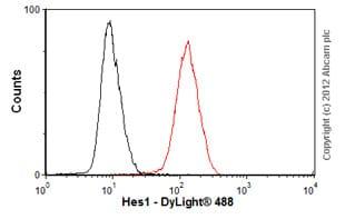Flow Cytometry - Anti-Hes1 antibody [7H11] (ab70576)