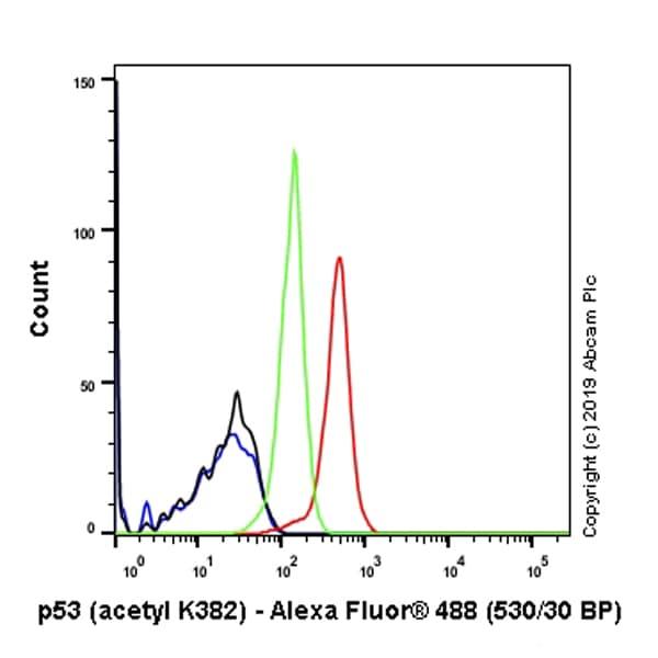 Flow Cytometry - Anti-p53 (acetyl K382) antibody [EPR358(2)] (ab75754)