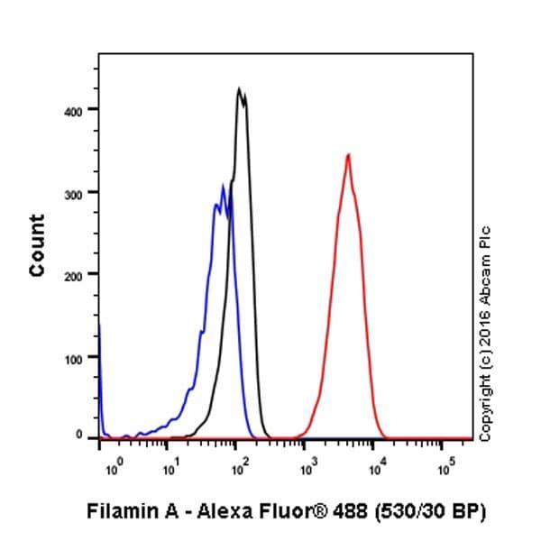 Flow Cytometry - Anti-Filamin A antibody [EP2405Y] (ab76289)
