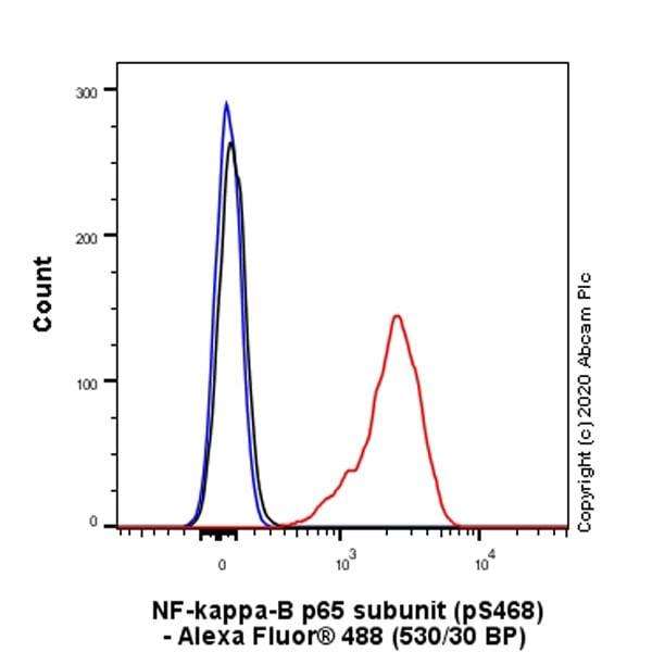 Flow Cytometry (Intracellular) - Anti-NF-kB p65 antibody [EP2161Y] (ab76311)