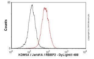 Flow Cytometry - Anti-KDM5A / Jarid1A / RBBP2 antibody [18E8] (ab78322)