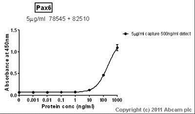 Sandwich ELISA - Anti-PAX6 antibody [AD2.38] (ab78545)