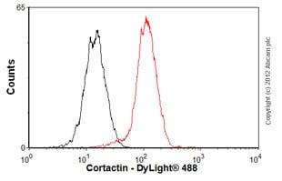 Flow Cytometry - Anti-Cortactin antibody [EP1922Y] (ab81208)