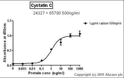 Sandwich ELISA - Anti-Cystatin C antibody (ab85790)