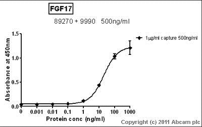 Sandwich ELISA - Recombinant human FGF17 protein (ab9991)