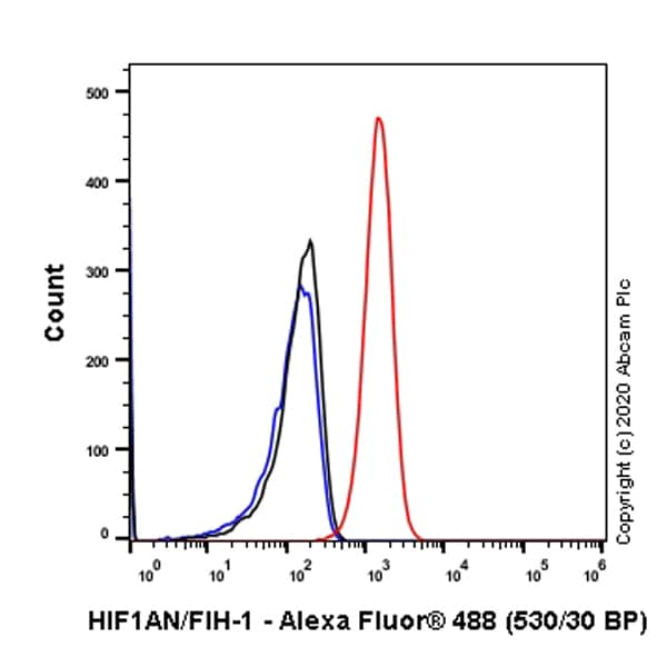 Flow Cytometry (Intracellular) - Anti-HIF1AN/FIH-1 antibody [EPR3658] (ab92498)
